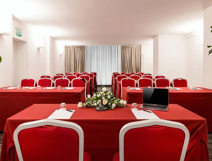 Domus del Chirurgo room <br>60 S.qm/645 ft2 – Max 62 attendees