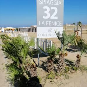 Spiaggia  di proprietà dell'Hotel Continental Rimini